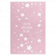 Detský koberec Milujeme hviezdy  140 x 190 cm - ružový Preview