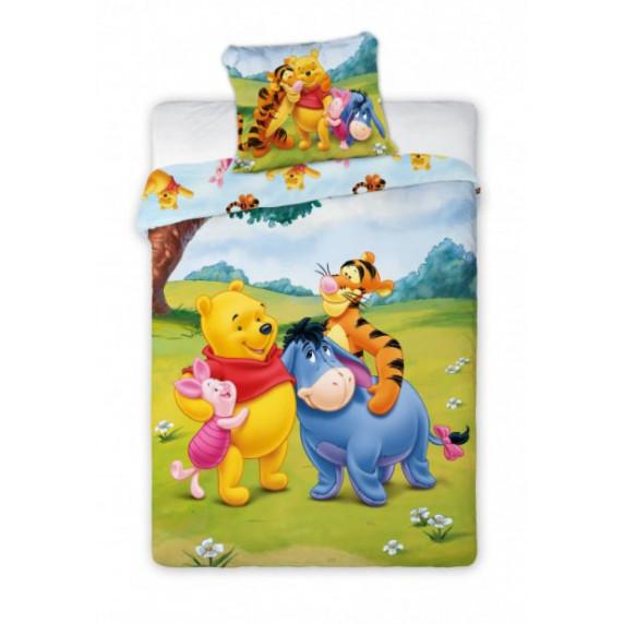 Detské posteľné obliečky Macko Pú a kamaráti 135 x 100 cm