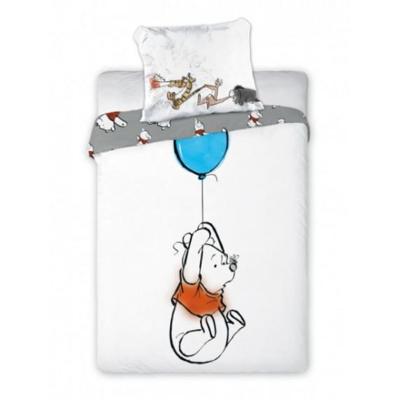 Detské posteľné obliečky Macko Pú s balónikom 135 x 100 cm