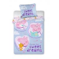 Posteľné obliečky Peppa Pig Sweet dreams 135 x 100 cm