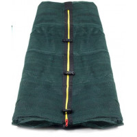 Vnútorná ochranná sieť na trampolínu s celkovým priemerom 400 cm na 8 tyčí AGA - tmavo zelená