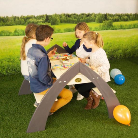 Axi Detský piknikový stôl so slunečníkom KYLO
