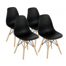 Aga Jedálenská stolička 4 ks - čierna Preview