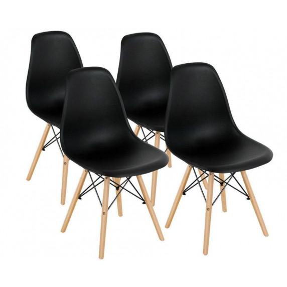 Jedálenská stolička 4 ks - čierna