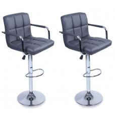 Aga Barová stolička s operadlom 2 kusy BH015 - Sivá Preview