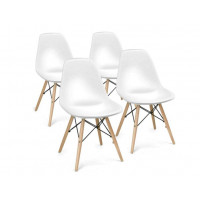 Aga Jedálenská stolička 4 ks - biela