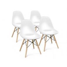 Aga Jedálenská stolička 4 ks - biela Preview