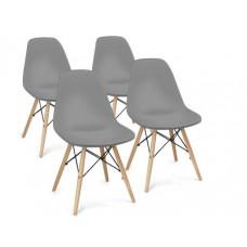 Aga Jedálenská stolička 4 ks - sivá Preview