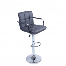 Aga Barová stolička s operadlom BH015 - Sivá Preview