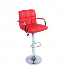 Aga Barová stolička s operadlom BH014  - Červená Preview