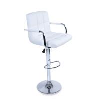 Tresko Barová stolička s operadlom BH016 - Biela