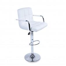 Aga Barová stolička s operadlom BH016 - Biela Preview