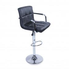 Tresko Barová stolička s operadlom BH012  - Čierna Preview