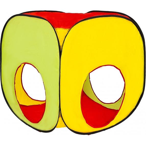 Aga4Kids Detský hrací stan so spojovacím tunelom ST-030 - farebné