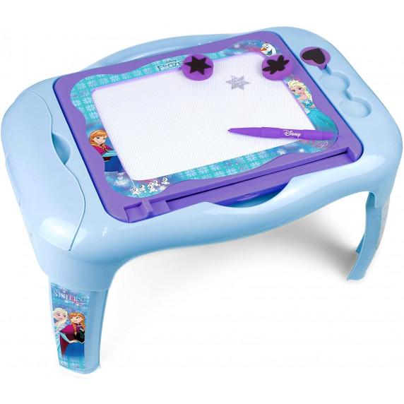 Disney Ľadové Kráľovstvo Detský stolík s obojstrannou tabuľou CFRO0114