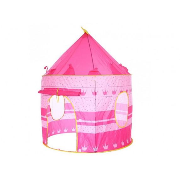 Detský hrací stan Aga4Kids CASTLE Beautiful Cubby house MR0108PINK - Ružový