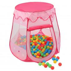 Kiduku Detský hrací stan s loptičkami ružový Preview