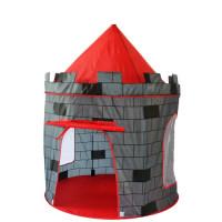 Detský hrací stan Aga4Kids CASTLE ST-0108KPH - sivý/červený