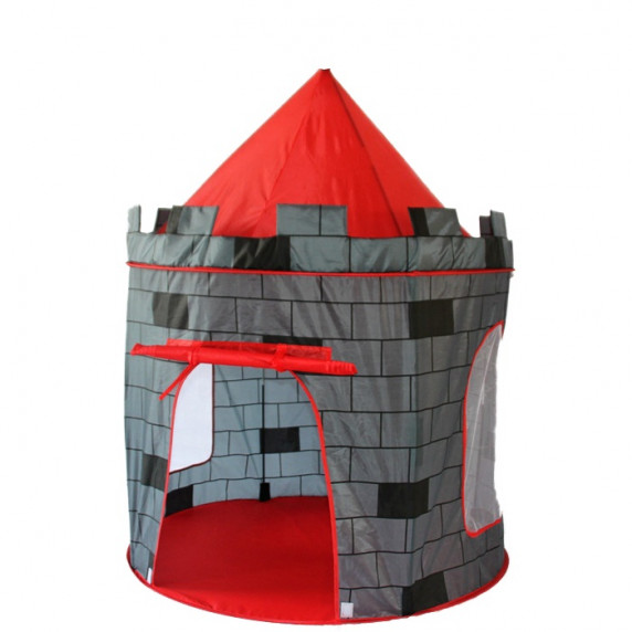 Aga4Kids detský hrací stan CASTLE ST-0108KPH - sivý/červený