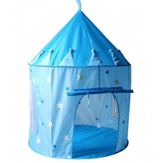 Detský hrací stan Aga4Kids Castle ICE PALACE ST-0108IPH 135x102 cm - Modrý