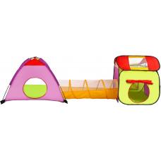 Detský hrací stan s tunelom Aga4Kids ST-029 - zelený Preview