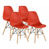 Jedálenská stolička 4 ks AGA MRWCH-1R- červená