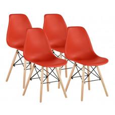 Aga Jedálenská stolička 4 ks - červená Preview