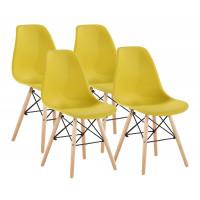 Aga Jedálenská stolička 4 ks - žltá