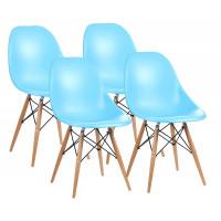 Jedálenská stolička 4 ks MRWCH-1BU Aga - svetlomodrá