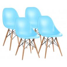 Aga Jedálenská stolička 4 ks - svetlomodrá Preview