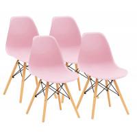 Aga Jedálenská stolička 4 ks - ružová