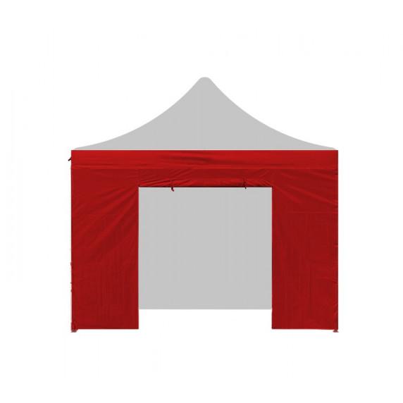 AGA Bočnica s dverami POP UP 3x3 m - červená