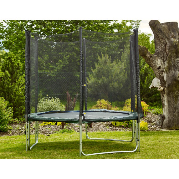 aga sport pro trampol na 250 cm s vonkaj ou ochrannou sie ou tmavozelen trampol ny s. Black Bedroom Furniture Sets. Home Design Ideas