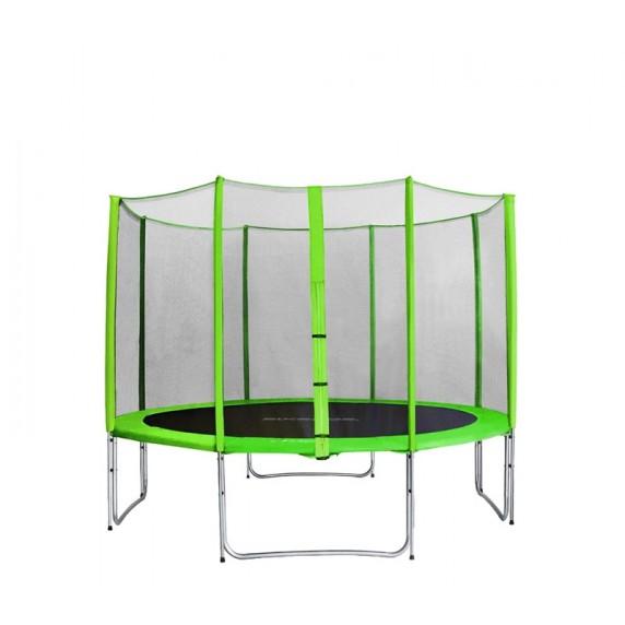 AGA SPORT PRO Trampolína 400 cm Light Green s vonkajšou ochrannou sieťou