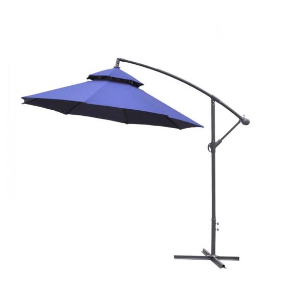 Záhradný slnečník konzolový AGA Exclusiv CUBE 250 cm Dark Blue