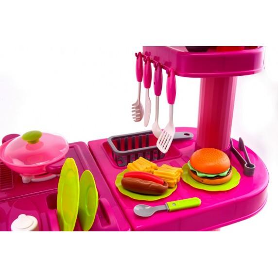 Aga4Kids Plastová kuchynka 008-82 Pink