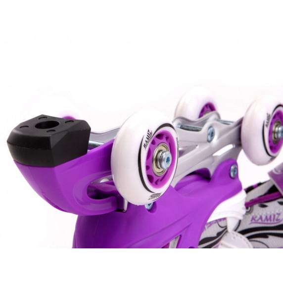 Aga4Kids Zimné korčule 4v1 GW-083SA Fialové Veľkosť (EUR): 30-33