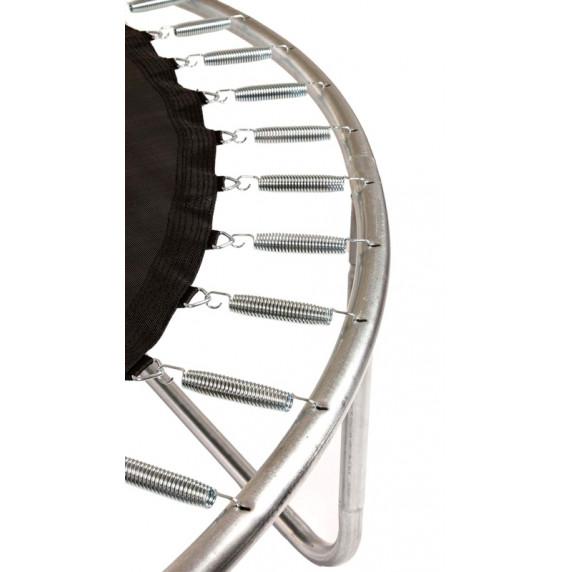 Trampolína AGA SPORT FIT 180 cm s vnútornou ochrannou sieťou tmavozelená