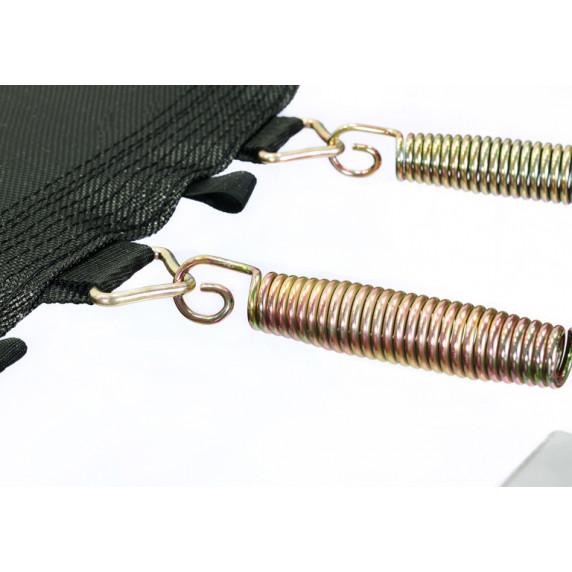 Trampolína AGA SPORT FIT 250 cm s vnútornou ochrannou sieťou tmavozelená