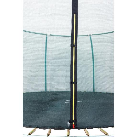 Trampolína AGA SPORT FIT 366 cm s vnútornou ochrannou sieťou tmavozelená