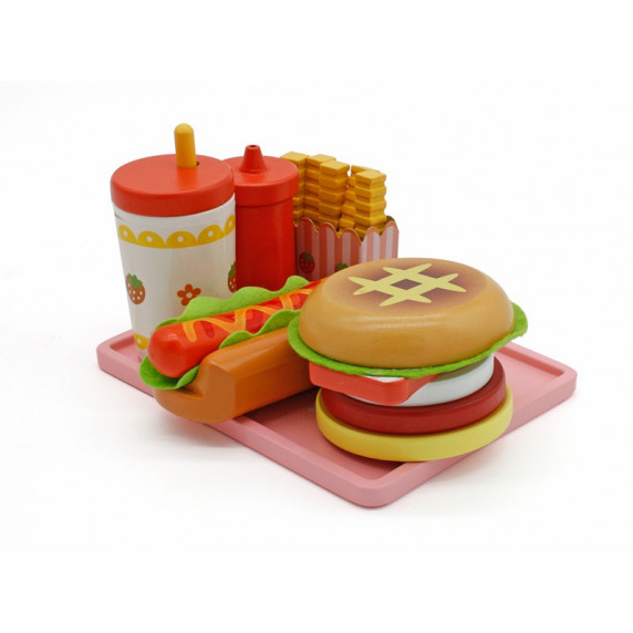Aga4Kids Hamburger kufrík HAMBURGER TOY