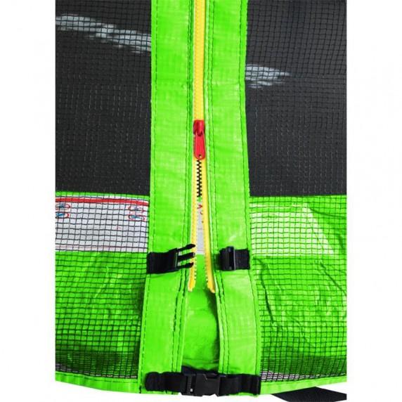Aga SPORT PRO Trampolína 500 cm Light Green s vonkajšou ochrannou sieťou + rebrík + vrecko na obuv