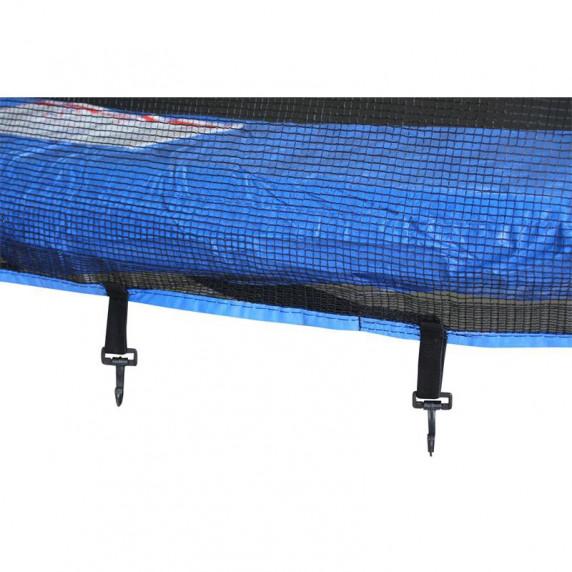 AGA SPORT PRO trampolína 366 cm s vonkajšou ochrannou sieťou modrá