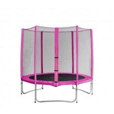 AGA SPORT PRO trampolína 305 cm s vonkajšou ochrannou sieťou ružová Preview