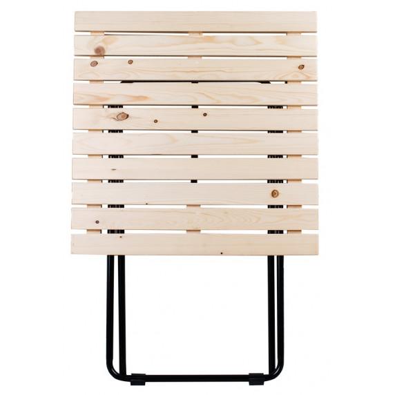 Záhradný stôl Linder Exclusiv MC4711 45 x 50 x 45 cm - prírodné drevo