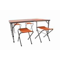 Kempingový skladací set Aga - oranžový