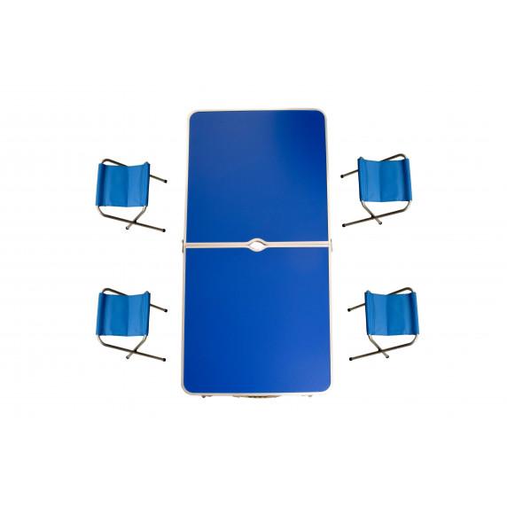Kempingový skladací set Aga - modrý