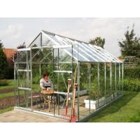 VITAVIA URANUS skleník 11500 číre sklo 3 mm strieborný
