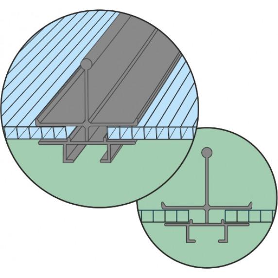 VITAVIA TARGET skleník 5000 PC 4 mm strieborný