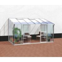 VITAVIA IDA skleník 7800 matné sklo 4 mm + PC 6 mm strieborný